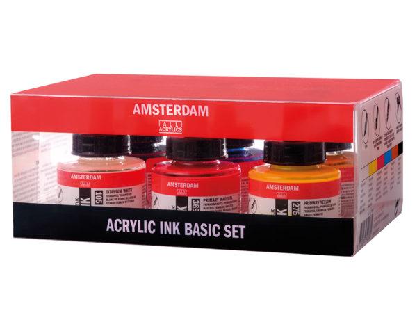 Amsterdam Ink Set - 6x30ml
