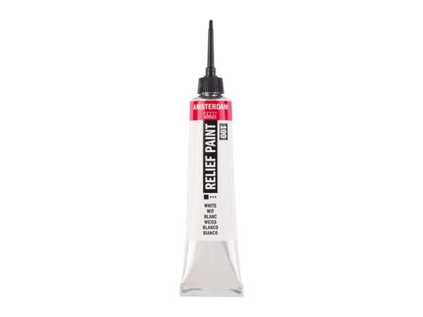 Amsterdam Relief Paint 20ml - 100 White