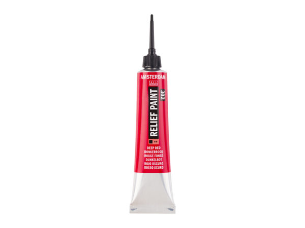 Amsterdam Relief Paint 20ml - 302 Deep Red