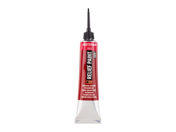 Amsterdam Relief Paint 20ml - 422 Reddish Brown