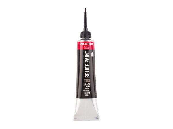 Amsterdam Relief Paint 20ml - 700 Black