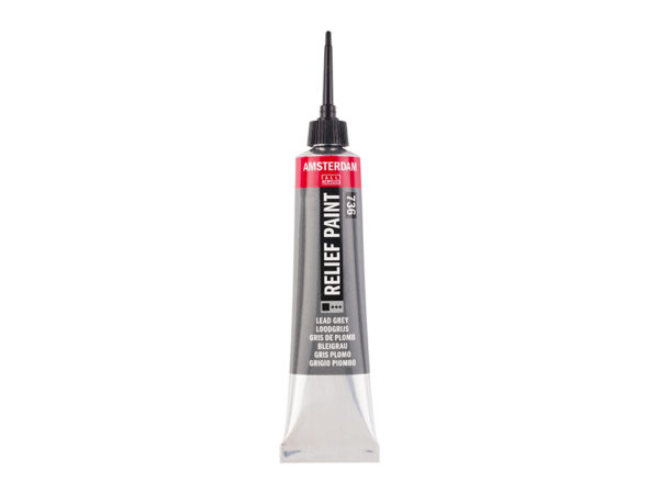 Amsterdam Relief Paint 20ml - 736 Lead Grey