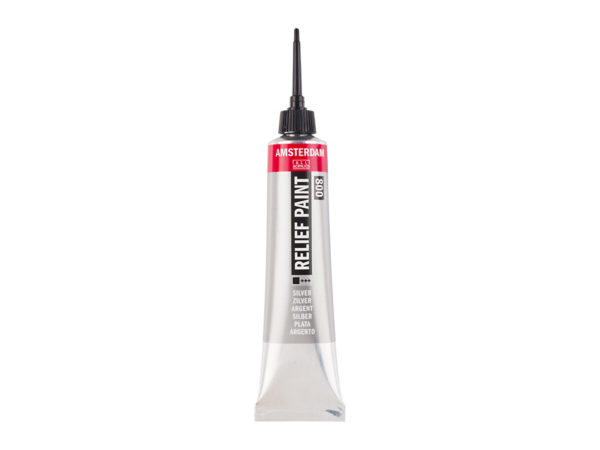Amsterdam Relief Paint 20ml - 800 Silver