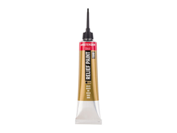 Amsterdam Relief Paint 20ml - 801 Gold