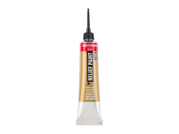Amsterdam Relief Paint 20ml - 802 Light Gold