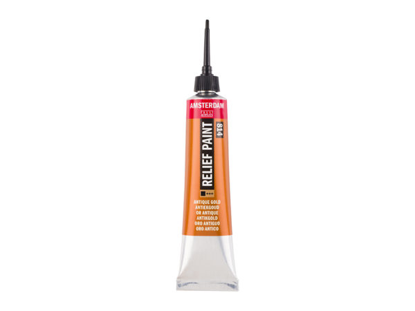 Amsterdam Relief Paint 20ml - 814 Antique Gold