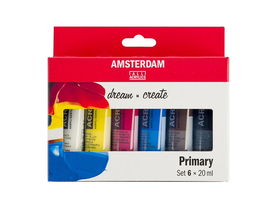 Amsterdam Standard 20ml - Primær Sett 6ass