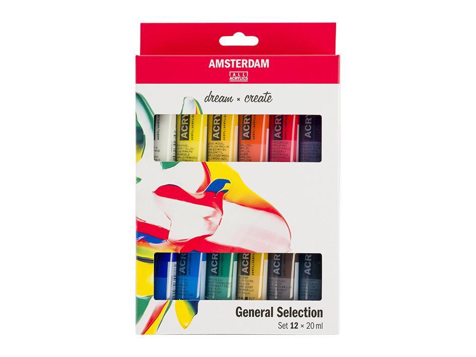 Amsterdam Standard 20ml - Sett 12 ass. farger