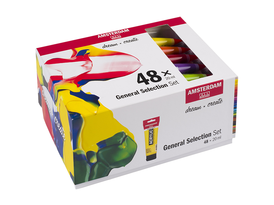 Amsterdam Standard 20ml - Sett 48 ass farger