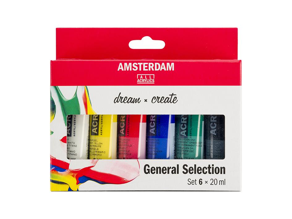 Amsterdam Standard 20ml - Sett 6 ass. farger