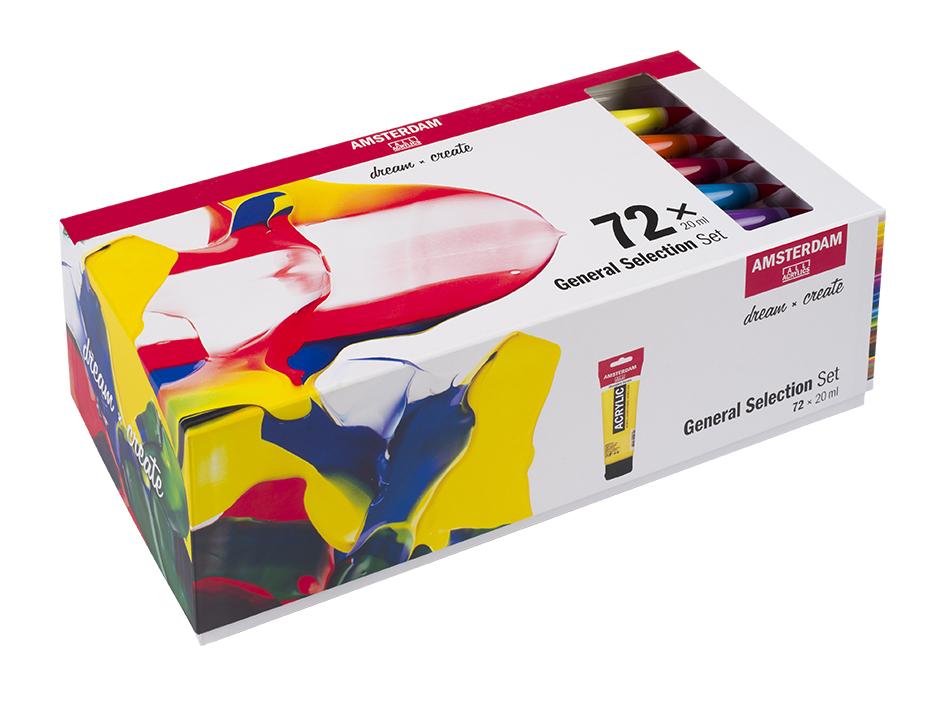 Amsterdam Standard 20ml - Sett 72 ass farger