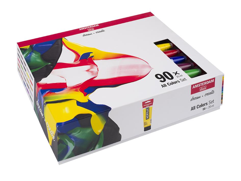 Amsterdam Standard 20ml - Sett 90 ass farger