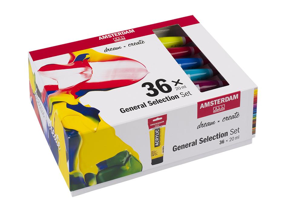 Amsterdam Standard 20ml-sett 36 ass. farger