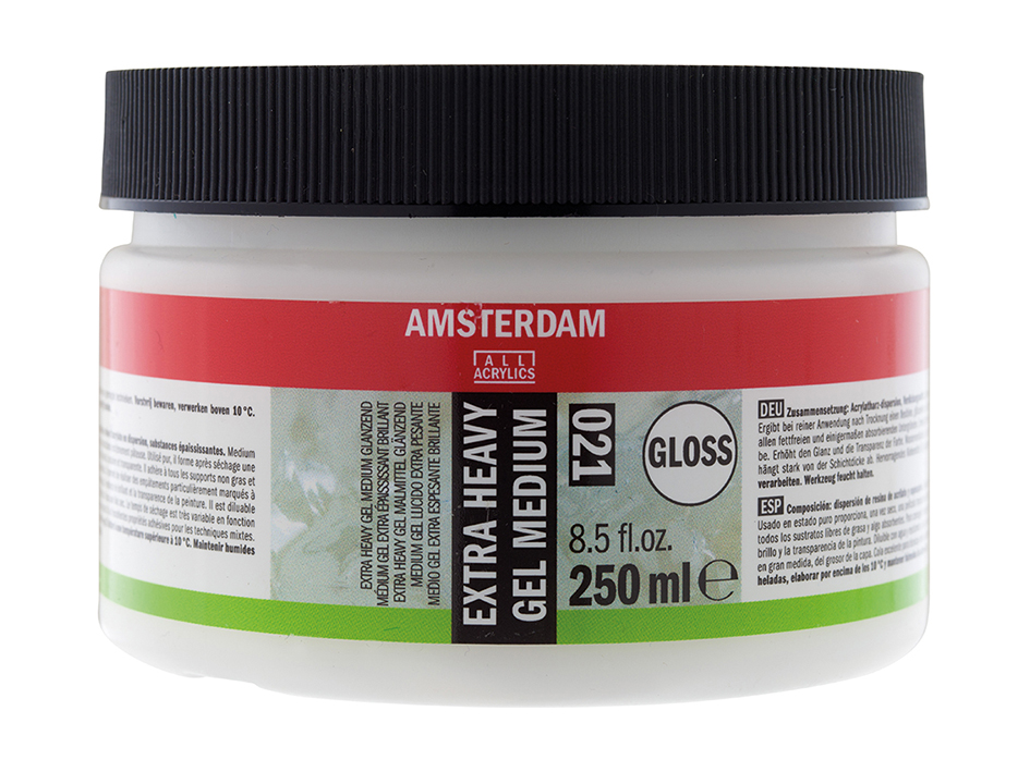Amsterdam Extra Heavy Gel Medium glossy 021 - 250ml