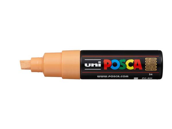 Uni POSCA PC-8K - Chisel 8mm - 54 Light Orange