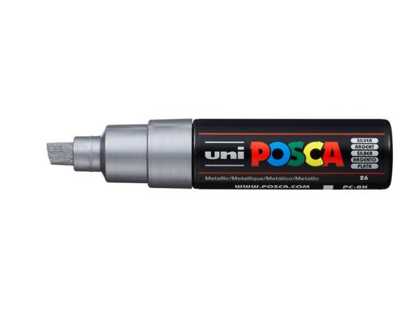 Uni POSCA PC-8K - Chisel 8mm - 26 Silver