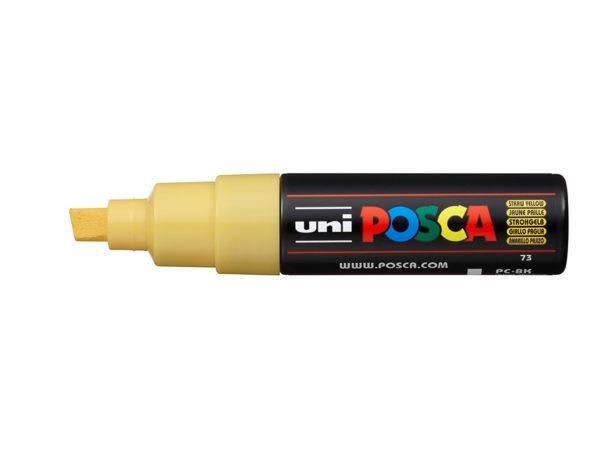Uni POSCA PC-8K - Chisel 8mm - 73 Straw Yellow