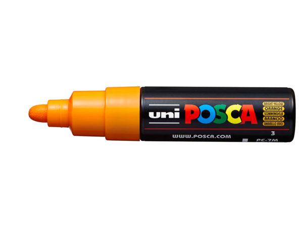 Uni POSCA PC-7M - Bullet 4,5-5,5mm - 3 Bright Yellow