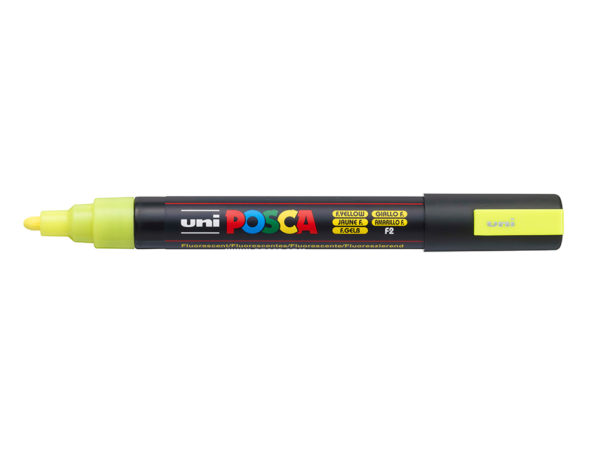 Uni POSCA PC-5M - Medium 1,8-2,5mm - F2 Fluorescent Yellow