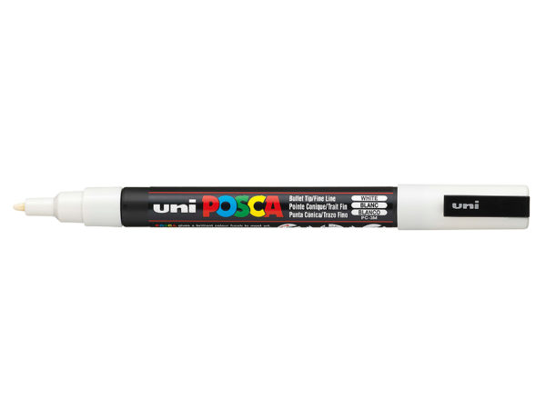 Uni POSCA PC-3M - Fine 0,9-1,3mm - 1 White