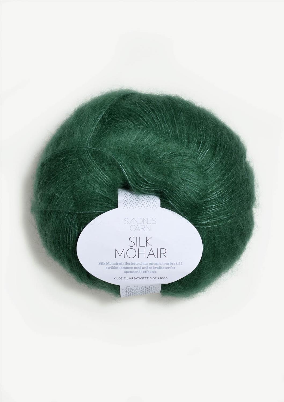 7755 Silk Mohair Smaragd   UTGÅTT