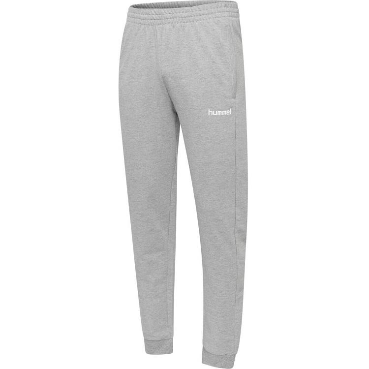 Hummel, Hmlgo Kids Cotton Pant, Grey Melange, Bukse