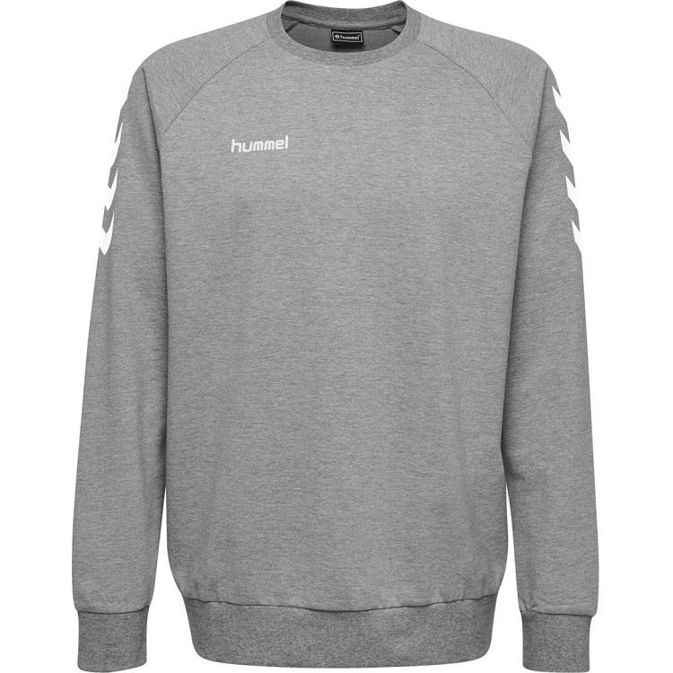 Hummel, Hmlgo Kids Cotton Sweatshirt, Grey Melange, Genser