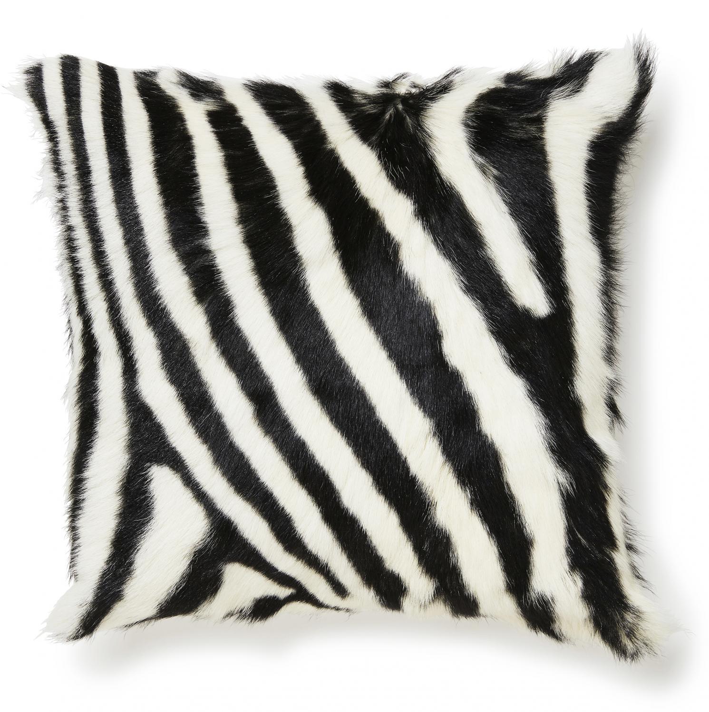Goaty Cushion cover Goatskin - Zebra