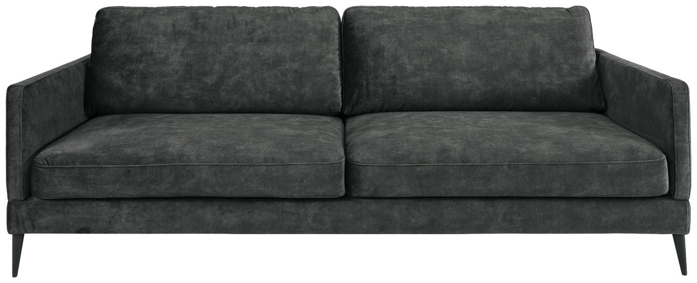 ANDORRA 3-s velvet dark grey