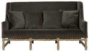 MAYFAIR dining sofa Velvet iron grey