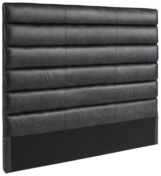 LISBON headboard black leather