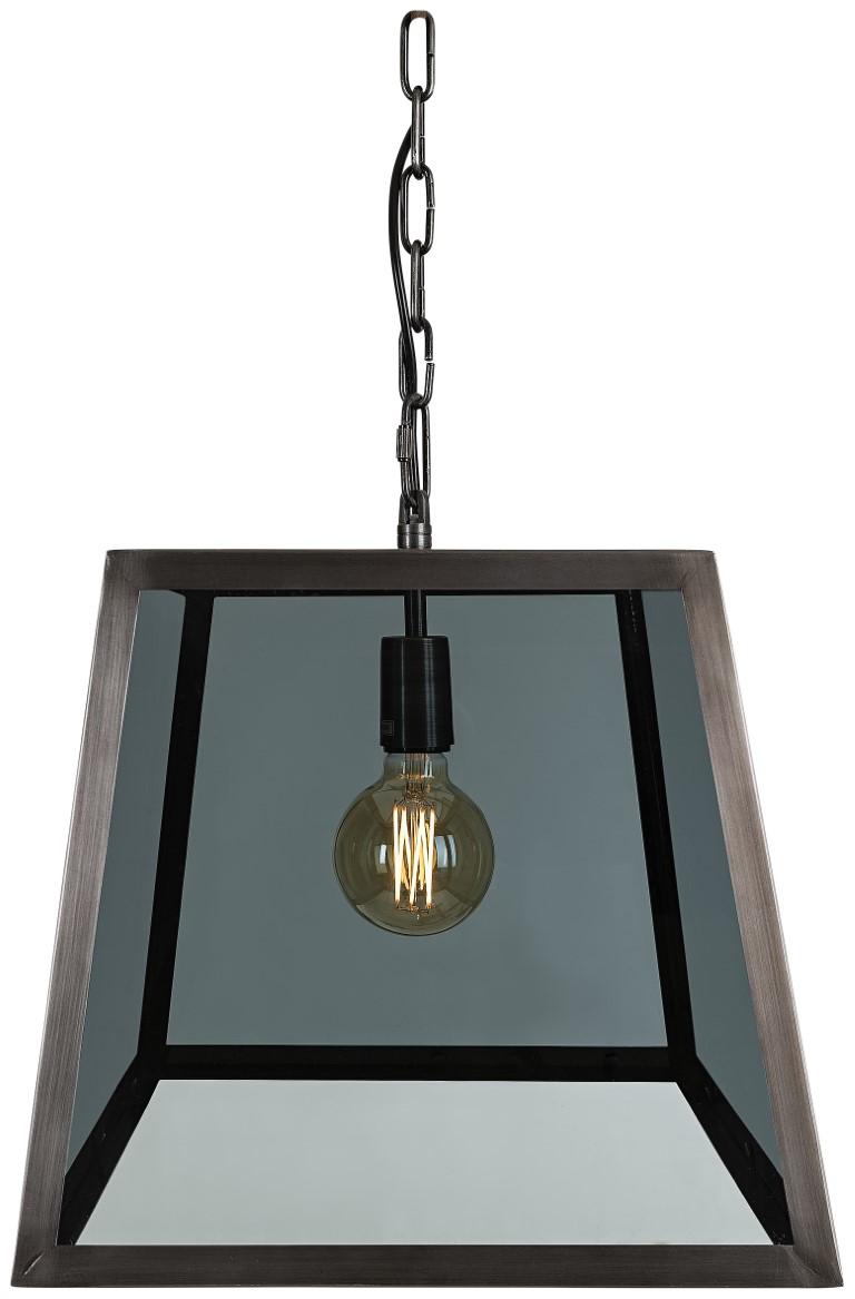BIG CITY Ceiling lamp Iron Smokey glass (HP)