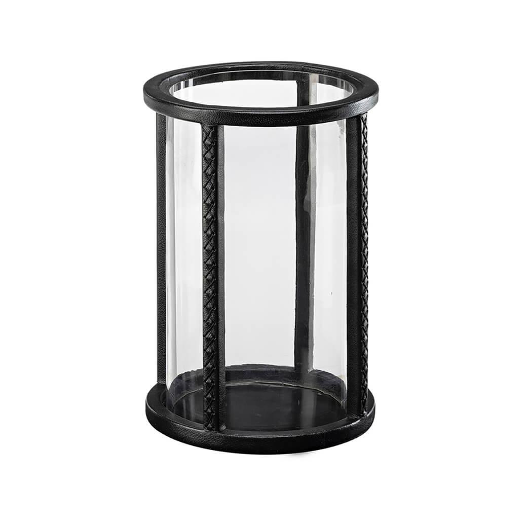 MENDOZA Lantern leather black round large(HP)