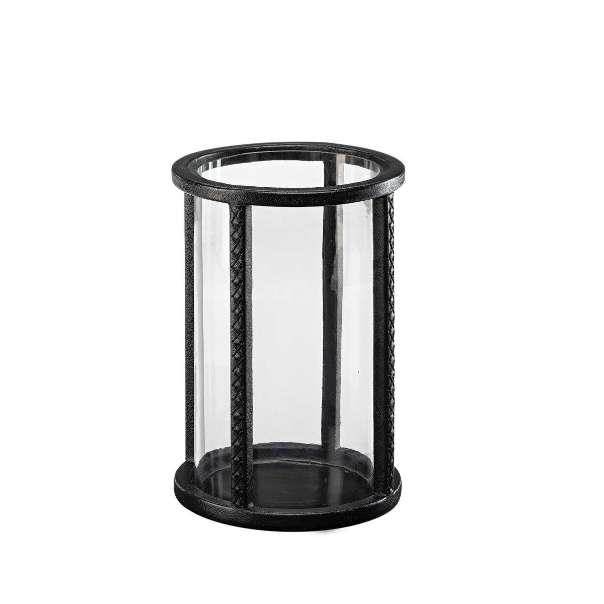 MENDOZA Lantern leather black round small(HP)