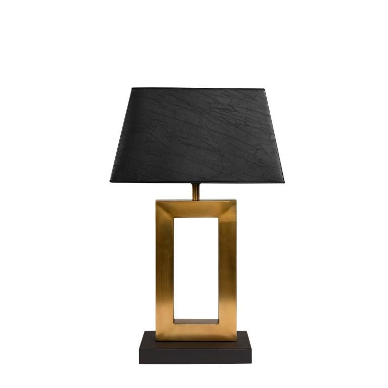 AREZZO table lamp antique brass/black