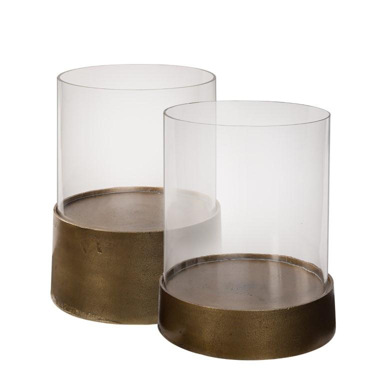 CELANO lantern antique brass 2-set