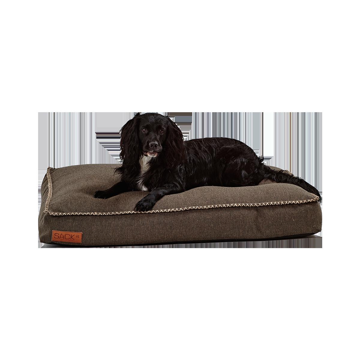 SACKit Dog Bed Large Brown