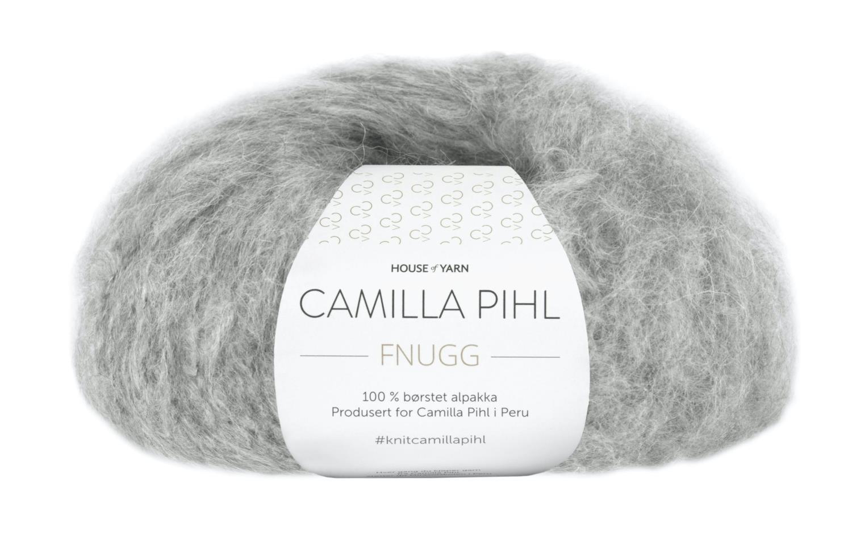 Camilla Pihl Garn - FNUGG 932-Grå melert