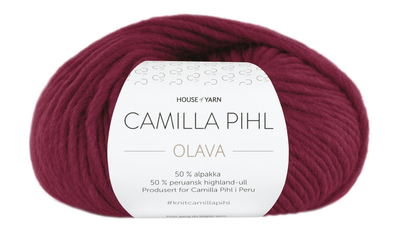 Camilla Pihl Garn - OLAVA 923-Rubinrød