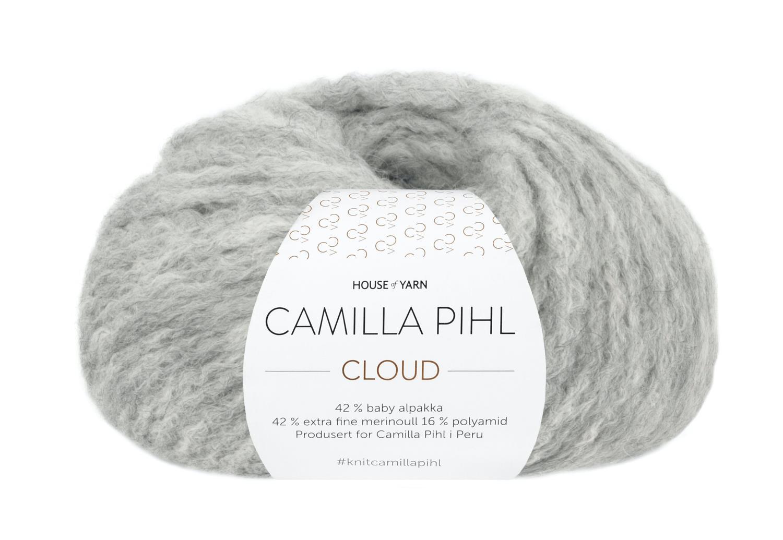 Camilla Pihl Garn - CLOUD 202-Lys grå melert
