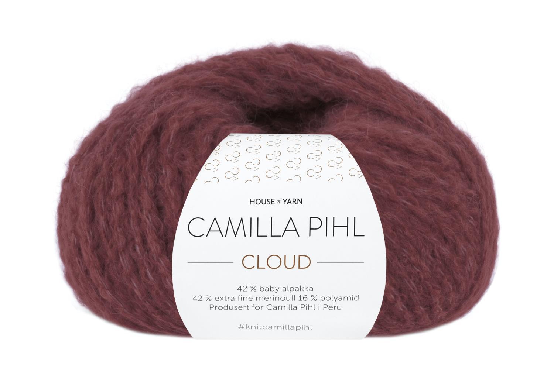 Camilla Pihl Garn - CLOUD 210-Vinrød