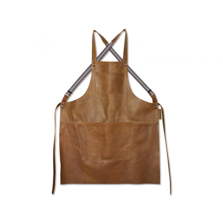 DD Suspender Forkle, Skinn - Vintage Cognac