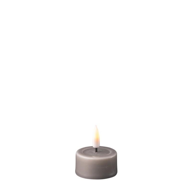 DELUXE HOMEART, LED Telys 2stk Grå