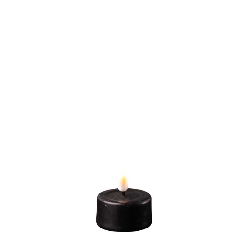 DELUXE HOMEART, LED Telys, 2stk Svarte