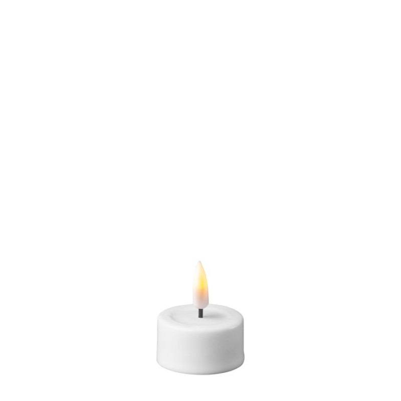 DELUXE HOMEART LED Telys, 2stk Hvite