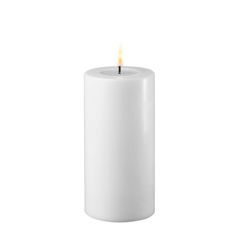 DELUXE HOMEART, LED Utendørs Kubbelys 7,5*15cm Hvit