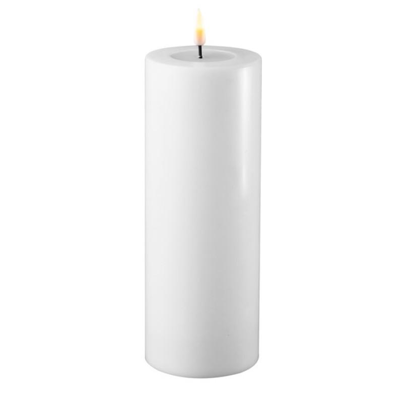 DELUXE HOMEART, LED Utendørs Kubbelys 10*20cm Hvit