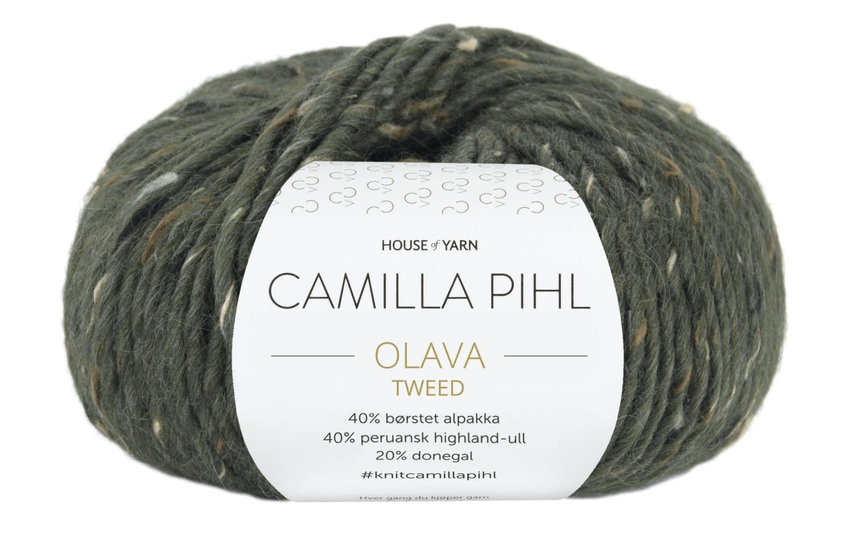 Camilla Pihl Garn - OLAVA TWEED 983-Army Tweed