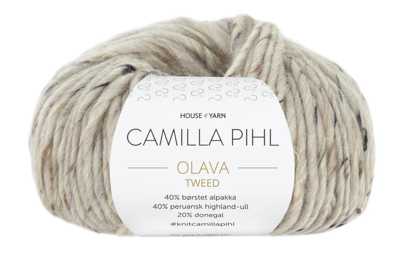 Camilla Pihl Garn - OLAVA TWEED 980-Sand Tweed