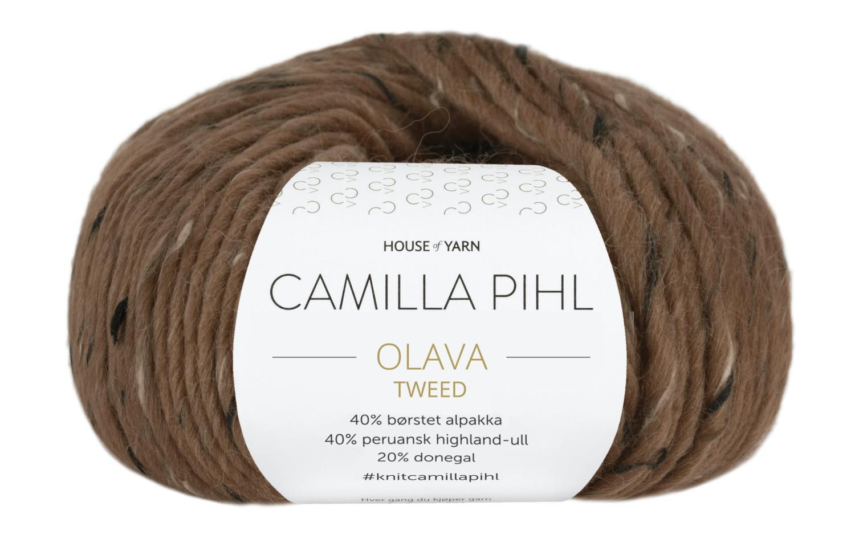 Camilla Pihl Garn - OLAVA TWEED 982-Kaffe Tweed